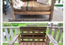 re-purposed design/ pallets