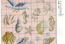 Cross stitch sea