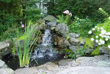 Custom waterfalls / Custom ponds with rock waterfalls for residential homes