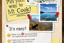 Mount Cook - My Home / I have been living at Glentanner, Mount Cook for nearly four years. It is such a beautiful place to live, where there is always something happening, someone visiting or somewhere to go! This is my example entry for my pinterest competition 'Pin your way to Mt Cook'. It represents my life here.  Full prize and entry details for the comp at http://www.glentanner.co.nz/book-online/specials