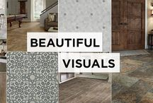 Luxury Vinyl Floors / Vinyl flooring has been around for generations. But today's vinyl is nothing like your grandmother's old kitchen floor. New technologies have made these floors more beautiful, stronger, and easier to maintain than ever before—no more waxing or scrubbing.