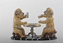 Dogs Trinket Box / Dogs Faberge style Trinket Box by Keren Kopal