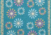 Prairie Pinwheels / For more information about the Prairie Pinwheels pattern, visit http://www.quiltworx.com/patterns/prairie-pinwheels/. To be taken directly back to this pattern page on Quiltworx.com, simply click on any of the images below.  / by Quiltworx Judy Niemeyer