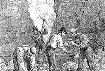 Gold Mining Etchings