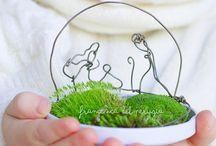 my eco christmas project / due piccoli progetti per un contest chiamato Natale al Verde