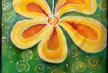Pinturas em tecido- Paintings on fabric