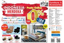 Promo Agustus 2015 / INDONESIA MERDEKA! Pesta Cicilan 0% s/d 24bln dgn cc 14 bank + Disc s/d 50% Furniture & Aksesoris. 27Jul - 23 Agst 15.s&k.