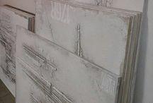 """""""wall... abstract art"""" / MIXED MEDIA/ABSTRACT"""