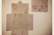 Faire-part Graine de Carrosse (Letterpress) / Wedding Stationery. Letterpress Printing
