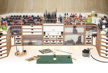 Workspaces / espacios de trabajo para el hobby