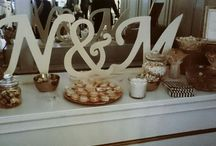 Cocoa Letters / Bride and grooms letters in milk, white, and dark chocolate in different sizes.