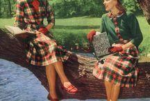 [1940s] ~ schoolgirl fashion / │ 1940s school girl & college girl fashion │ teen fashion │
