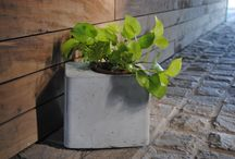 planter! / Handcrafted concrete pot brings in the required weight for any plant and planter to balance within.