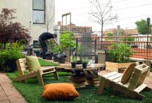Backyard and Rooftop