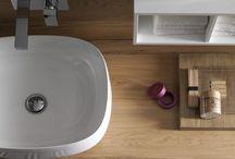 Arcom_top finishes / top e piani per il mobile bagno in diverse finiture, dal legno al laccato, dallo spessore 1 al 15 cm