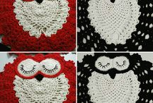 owl sleeping mat / My hand crochet