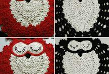 owl sleeping mat / My hand crochet