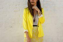 Yellow Blazer / Outfits with yellow blazer / looks con americana amarilla