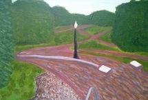 Landscape in style of artist