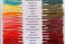 Dying fleece & yarn