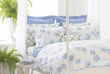 """Matouk In the Garden / From floral bedding, like """"Charlotte"""" by Lulu DK for Matouk, to scalloped pique placemats, like """"Savannah Gardens,"""" Matouk offers a wide range of high quality bedding and table linens perfect for inside and out. Plan a garden party to celebrate spring!"""