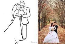 Свадебный - позирование