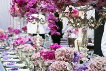 ślub lila róż