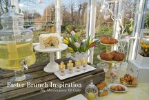 Easter Brunch Inspiration by Masterpiece Of Cake / Easter Brunch/High Tea Table. Styling and pictures by Masterpiece Of Cake, food by Banketbakkerij Lanskroon.