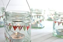 frascos reciclados