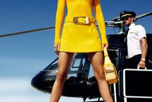Helicopter fashion photography