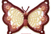crochet butterfly / papillons au crochet