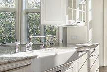 White Kitchens / White kitchen design ideas.  PRASADA Kitchens & Fine Cabinetry