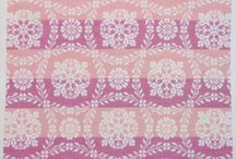 Vintage Textiles in Cross Stitch Patterns / Cross stitch patterns inspired by textiles from lace and ticking to vintage coverlets