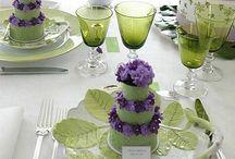 Wedding ideas / Purple and green