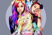Blackpink / Grupo sur coreano de kpop , bajo el sello de yg <3. #kpop  #blackpink #rose #jisoo #lisa #jennie