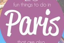 Paris with Kids / Paris is an amazing city for traveling with kids!  There are a ton of kid friendly parks and things to do (and really, what is better than sipping wine and eating yummy French cheese and baguettes in Paris while your kids play nearby?)