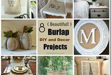 Burlap designs