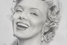 Marilyn Monroe / Photos et dessins de Marilyn Monroe