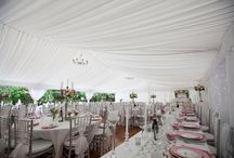 Silk Linings / A silk lining can transform a standard marquee into an sophisticated and luxurious environment.