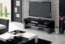 """Davos 2 / This fantastic Black High Gloss TV cabinet is ideal for LCD screen's up to 63"""" and weight of 50kg. Table has a shelf of usable dimensions 118 x 40cm."""
