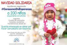 Navidad en Ecuador Volunteer / En esta Navidad únete a #CorazonesDeEsperanza y transforma la alegría de los rostros de 200 niños de escasos recursos económicos. Ayúdanos con tus donaciones y comparte esta campaña www.ecuadorvolunteer.org/landing/
