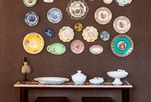 Decorations wall with plates