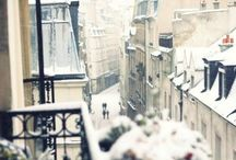 Snowfall in Paris / Get started on your winter travel plans with Europa Holiday Travels! There's nothing more beautiful than the snow fall in Paris~