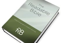 The Readable Bible Products (coming soon)