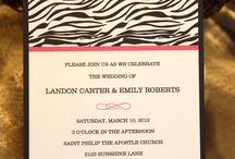 Zebra Print Wedding <3