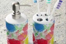 Watercolor Splatter Bath Sets