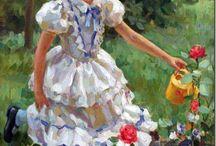 Дети в русской современной живописи / Картины современных художников, изображающие детей