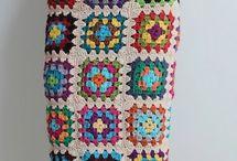 вязание. Крю цветные квадраты