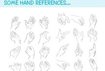 Drawing hands / How to draw a hand