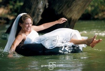 Sheri & Jack | Guadalupe River | Goen South Weddings / Sheri and Jack float down the Guadalupe River in tubes after their wedding. photography by Goen South. Texas Hill Country Wedding